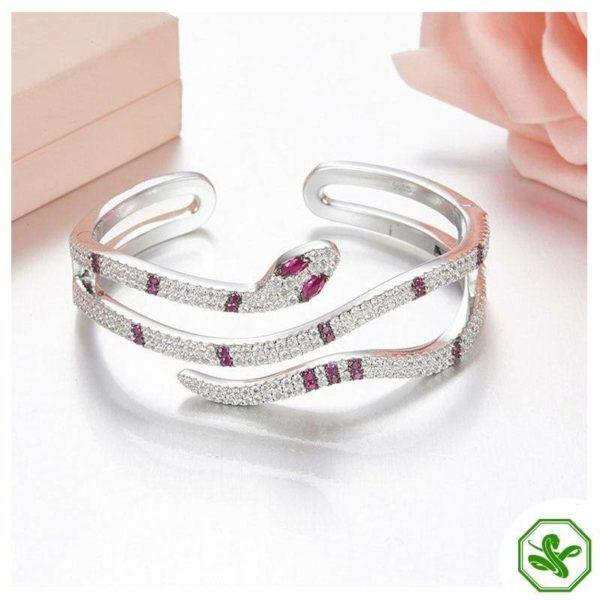 Sterling Silver Snake Bracelet 5