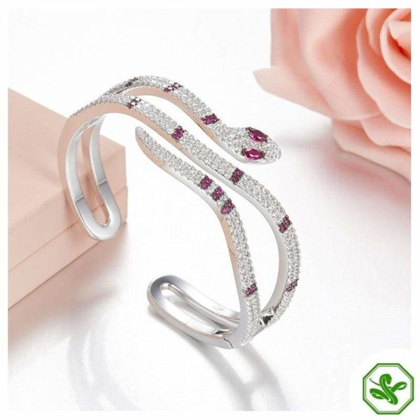 Sterling Silver Snake Bracelet 2