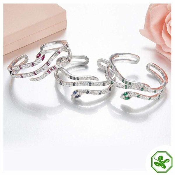 Sterling Silver Snake Bracelet 3