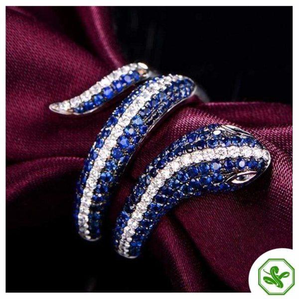 Sterling Silver Snake Ring 2