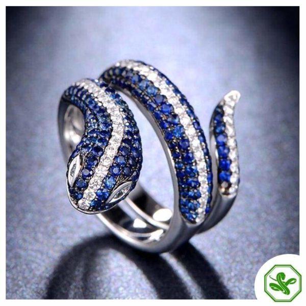 Sterling Silver Snake Ring 10