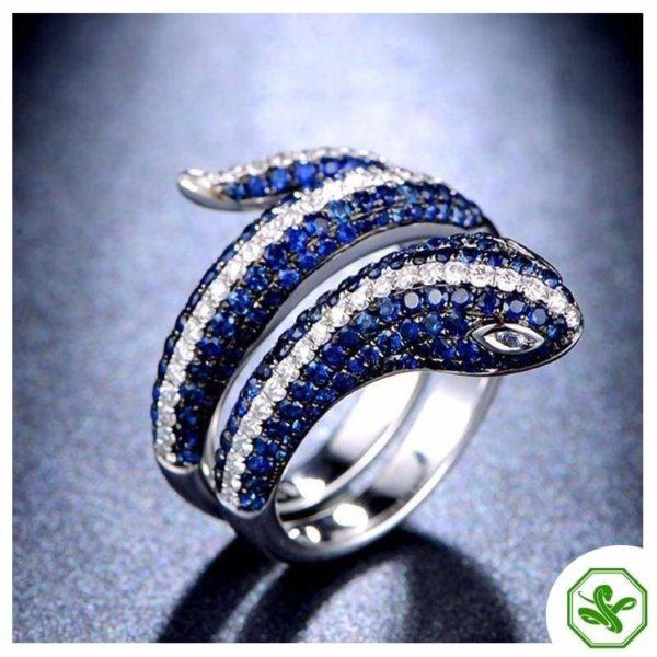 Sterling Silver Snake Ring 9