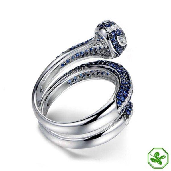 Sterling Silver Snake Ring 4
