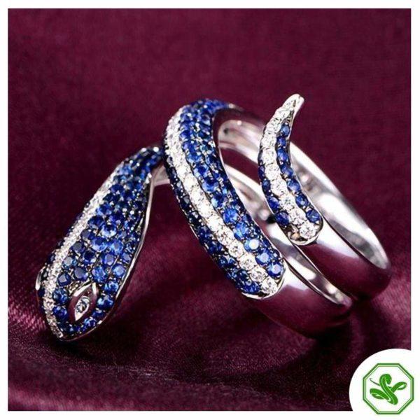 Sterling Silver Snake Ring 3