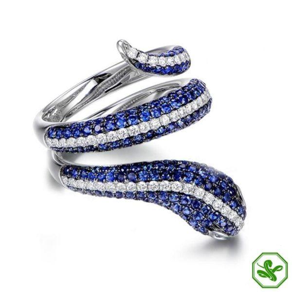 Sterling Silver Snake Ring 11