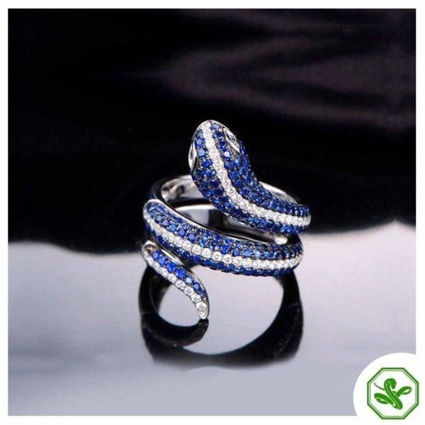 Sterling Silver Snake Ring 7