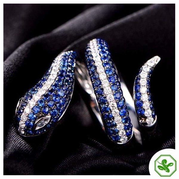 Sterling Silver Snake Ring 8