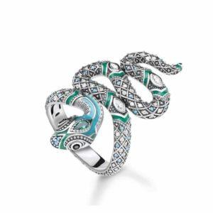 Turquoise Snake Ring