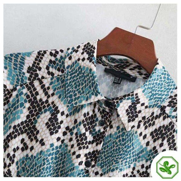 Turquoise Snakeskin Dress 4