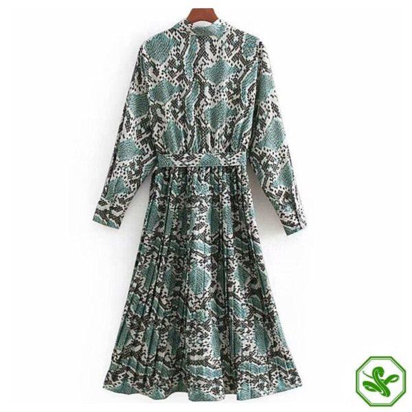 Turquoise Snakeskin Dress 3