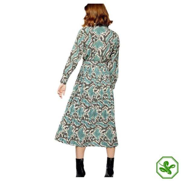 Turquoise Snakeskin Dress 2