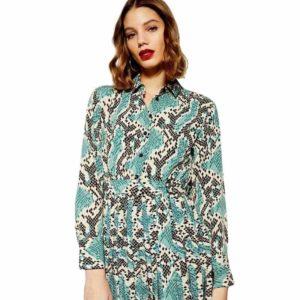Turquoise Snakeskin Dress 1