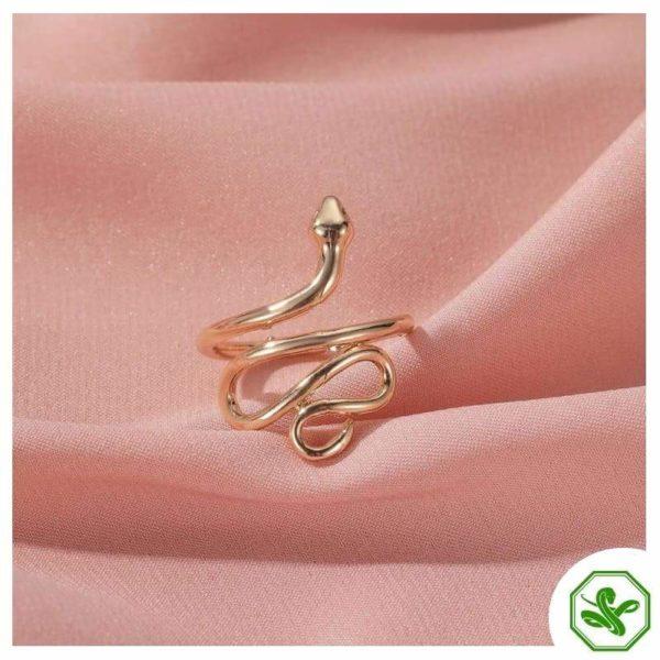 unisex-snake-ring-silver 2