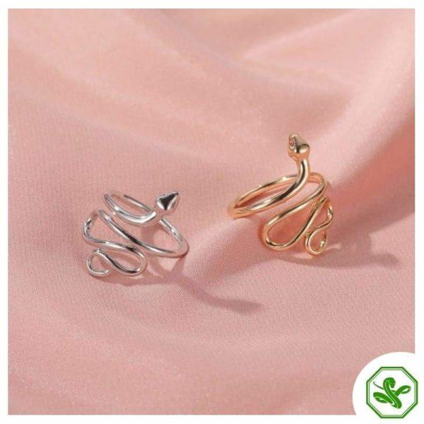 unisex-snake-ring-silver 4