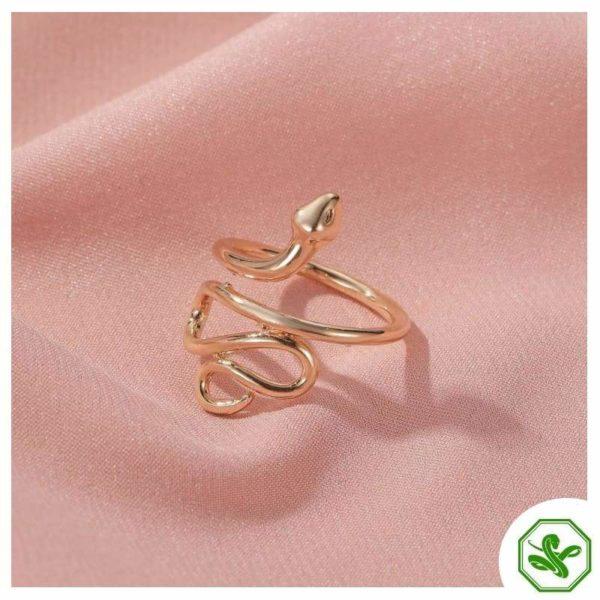 unisex-snake-ring-silver 3