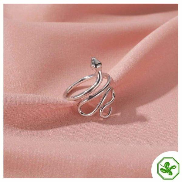 unisex-snake-ring-silver 6
