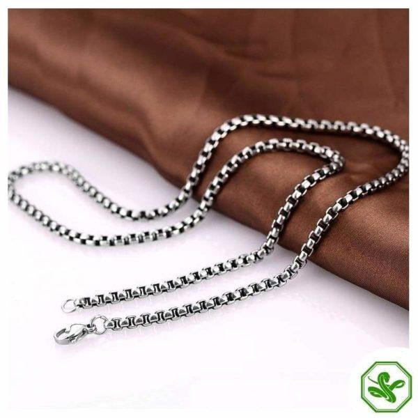 silver venetian snake chain