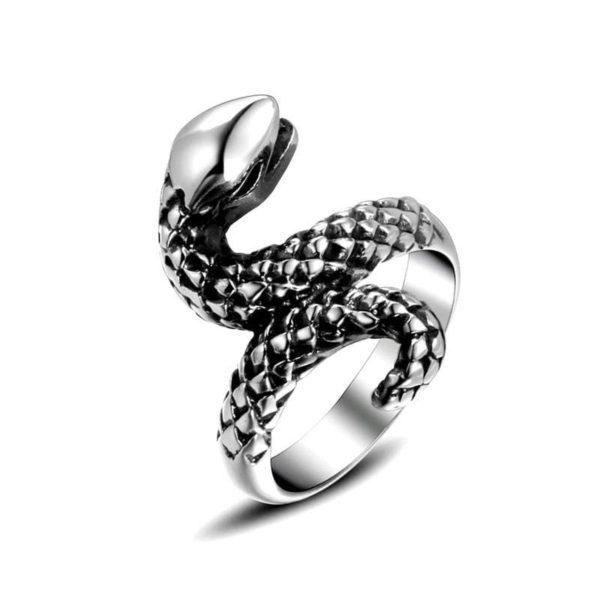 vintage-silver-snake-ring 1