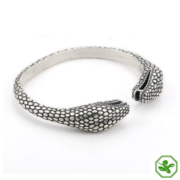 vintage 925 sterling silver snake bracelet