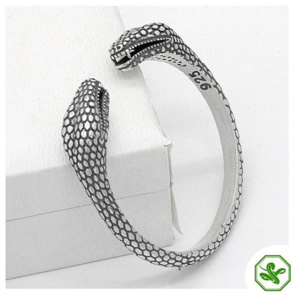 sterling silver snake bracelet for men