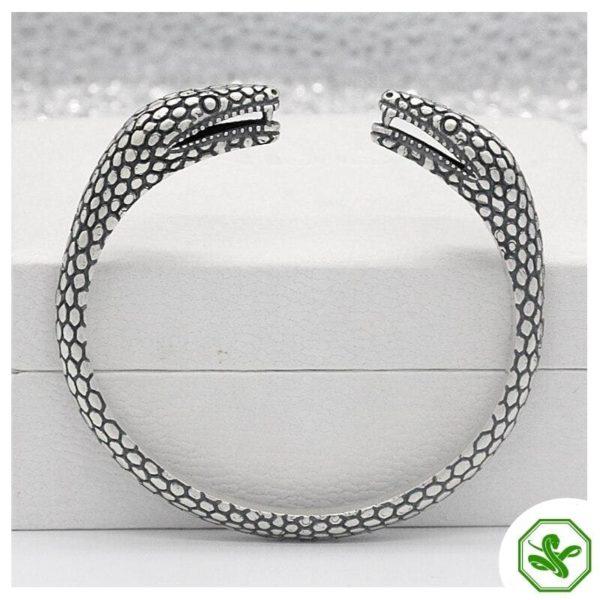 sterling silver snake bracelet vintage