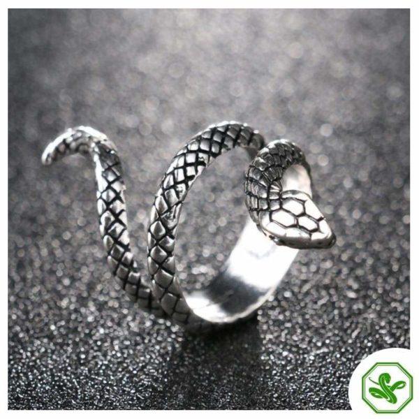 tiny silver snake ring