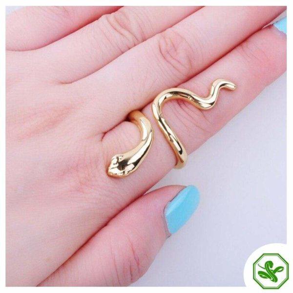 Vintage Snake Ring Gold 2