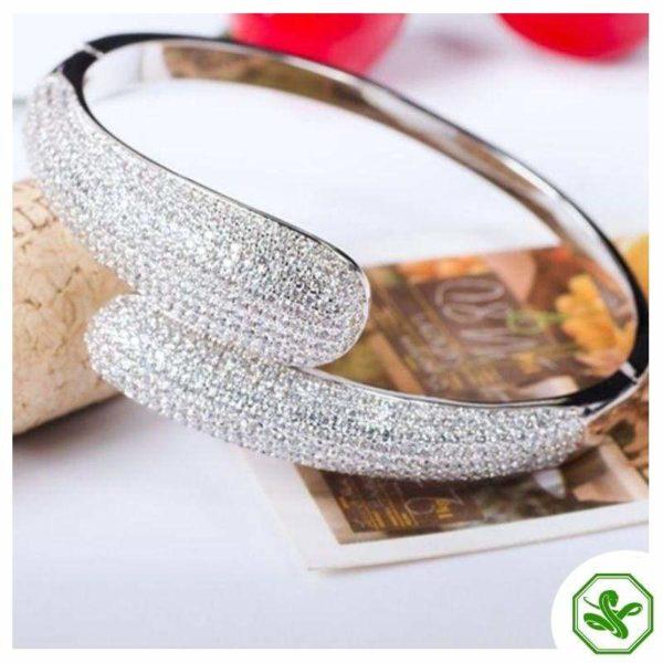 White Gold Snake Bracelet 3