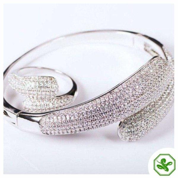 White Gold Snake Bracelet 5