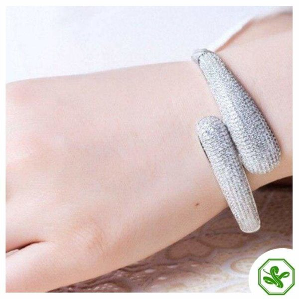 White Gold Snake Bracelet 4