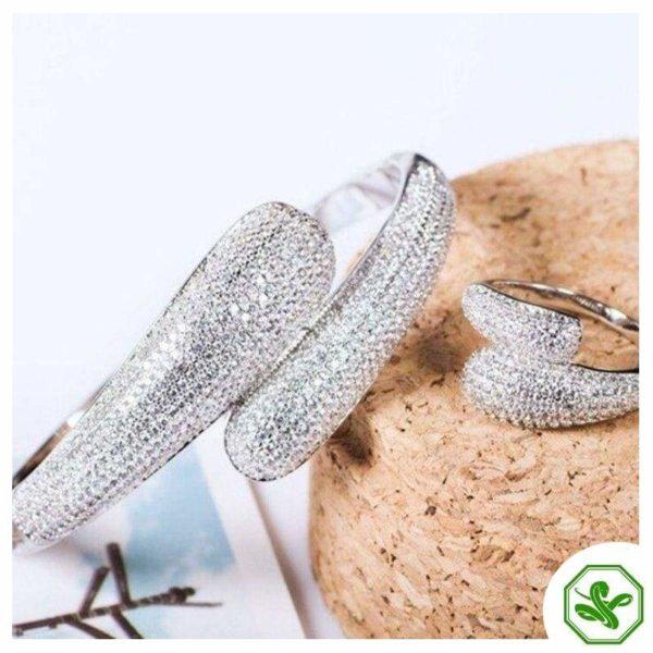 White Gold Snake Bracelet 2