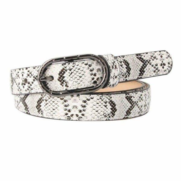 white snakeskin belt
