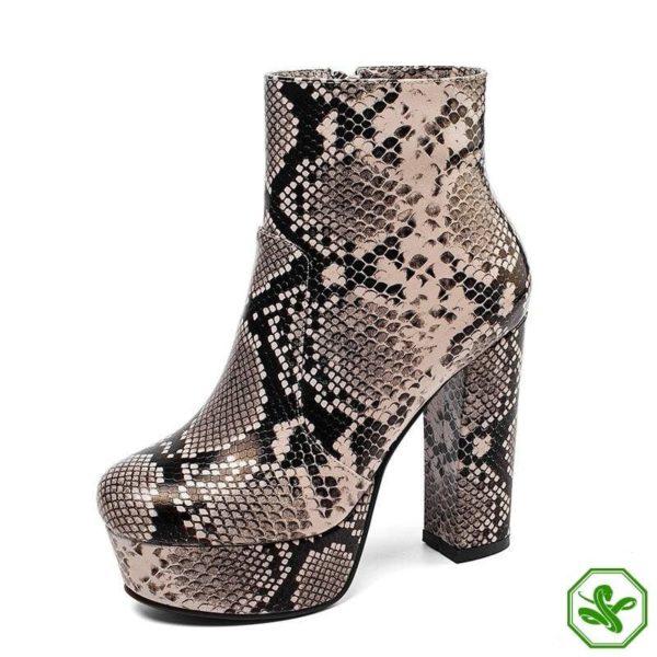 Women's Snake Print Boots 6