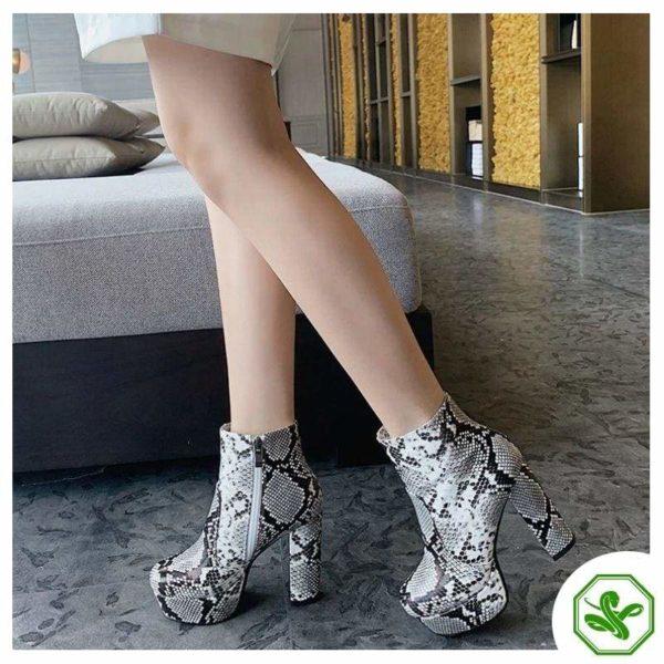 Women's Snake Print Boots 4