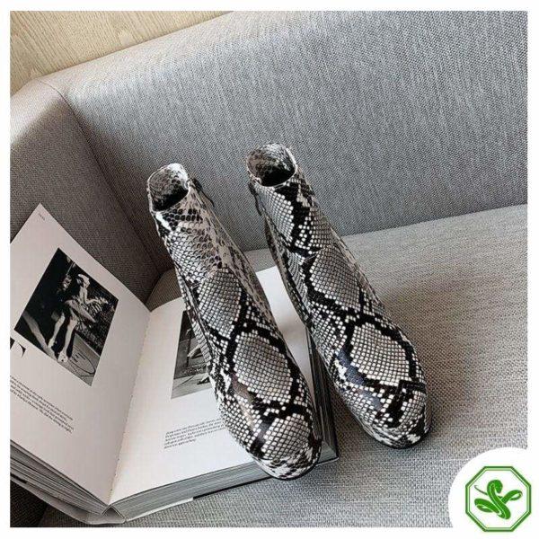 Women's Snake Print Boots 2