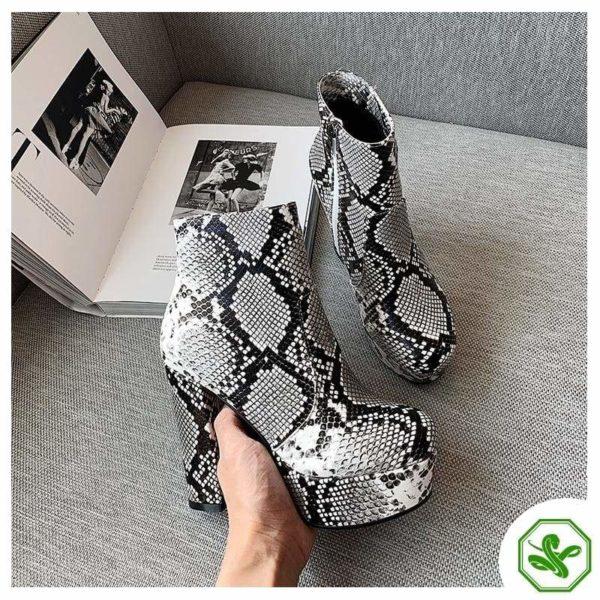 Women's Snake Print Boots 3
