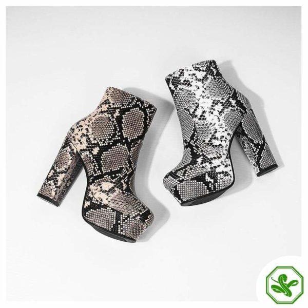 Women's Snake Print Boots 11