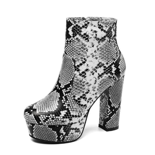 Women's Snake Print Boots 1