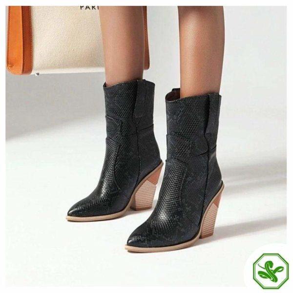 Women's Snakeskin Cowboy Boots 10