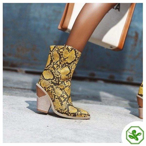 Women's Snakeskin Cowboy Boots 16