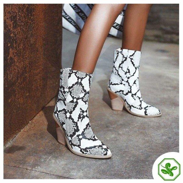 Women's Snakeskin Cowboy Boots 4