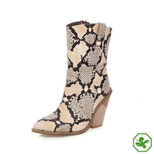 Women's Snakeskin Cowboy Boots 13