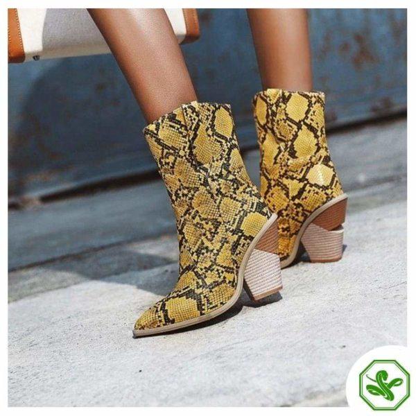 Women's Snakeskin Cowboy Boots 14