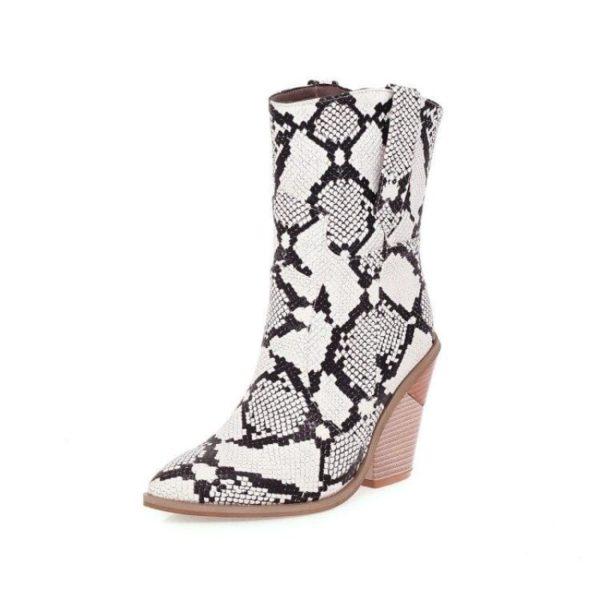 Women's Snakeskin Cowboy Boots 1