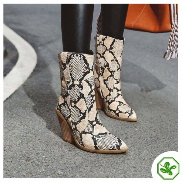 Women's Snakeskin Cowboy Boots 20