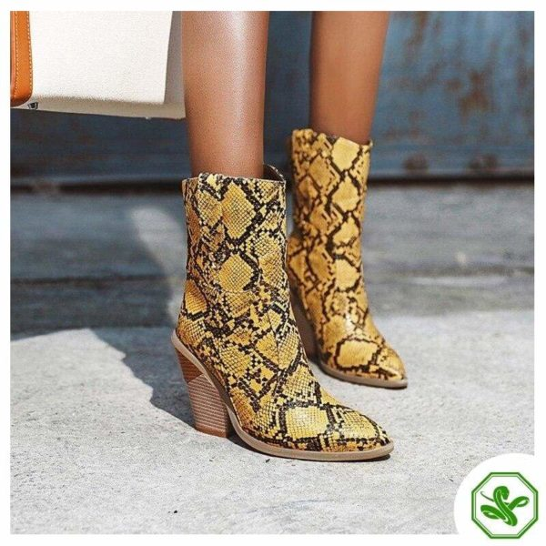 Women's Snakeskin Cowboy Boots 19