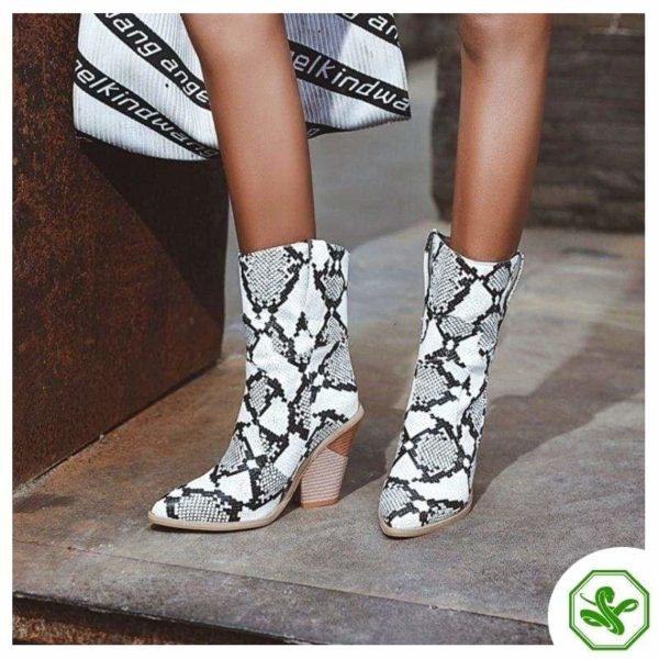 Women's Snakeskin Cowboy Boots 2