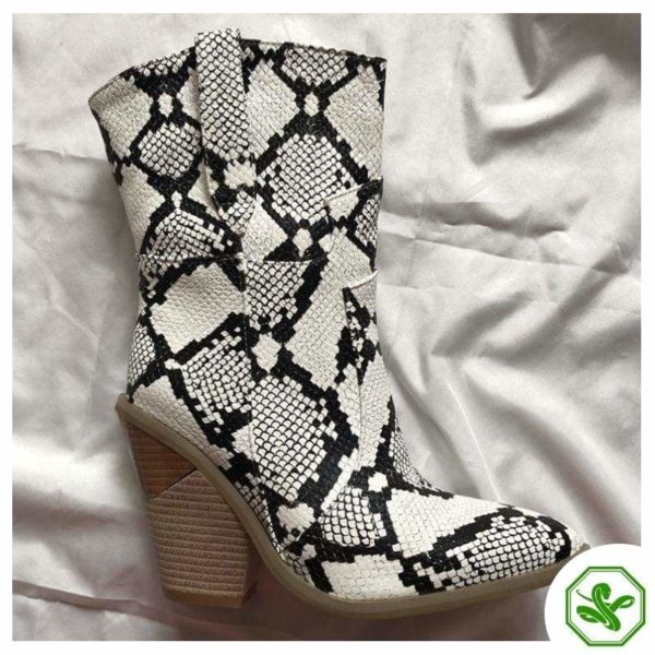 Women's Snakeskin Cowboy Boots 8