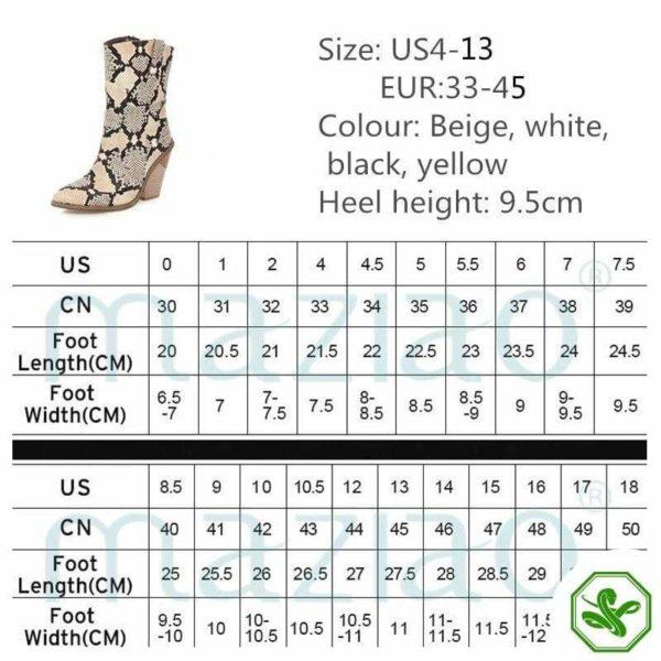 Women's Snakeskin Cowboy Boots 22