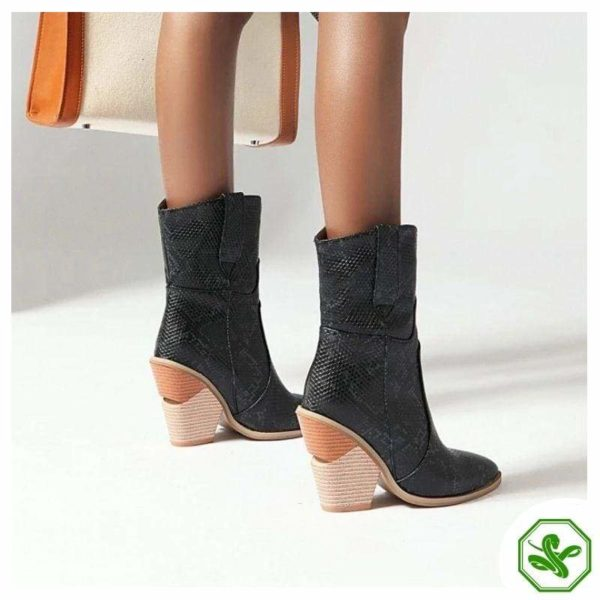Women's Snakeskin Cowboy Boots 12